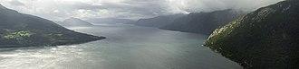 Fjord - Hardangerfjord in Hordaland, Norway