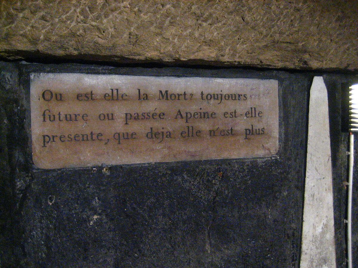 File Paris Citation Dans Les Catacombes Jpg Wikimedia Commons