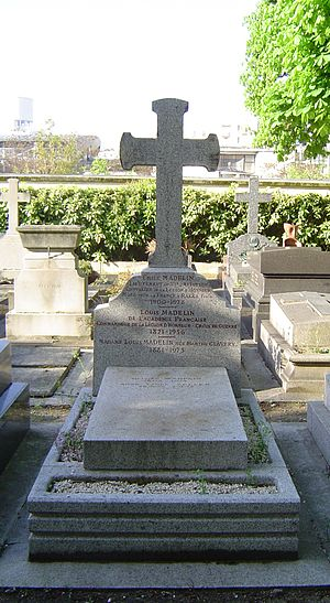 Louis Madelin - His grave in Grenelle Cemetery (Paris).