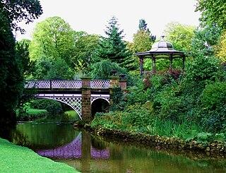 Buxton Pavilion Gardens Historic landscaped park in Buxton, Derbyshire, England