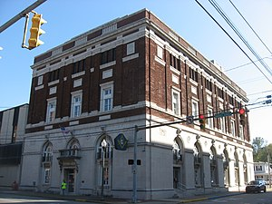 Masonic Temple (Parkersburg, West Virginia) - Front and southern side