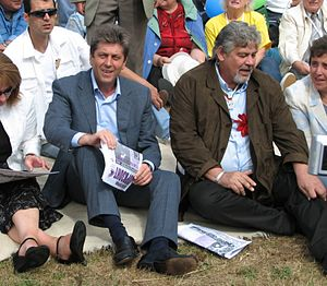 Stefan Danailov - With the president Georgi Parvanov, 2006