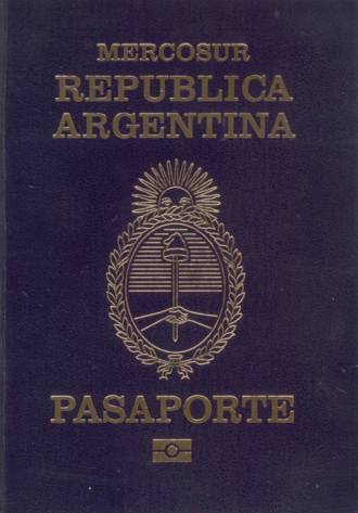 Visa requirements for Argentine citizens - Front cover of Argentine passport
