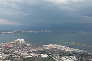 Patrick Corporation - Aerial photograph of Port Botany in 2014.