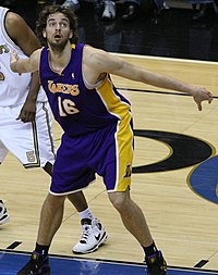 Gasol v dresu Los Angeles Lakers