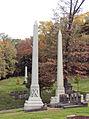 Paul (Robert Jr.) and Booth (J. J.), Allegheny Cemetery, 2015-10-27, 02.jpg