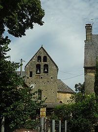 Paulin, église Saint-Pierre-ès-Liens, clocher.JPG