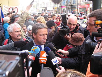Pavel Bém - After the celebration of the 19th Anniversary of the Velvet Revolution at Národní Street in Prague