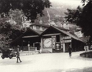 Peak Tram - The Peak Tram, Garden Road Terminus, circa 1920