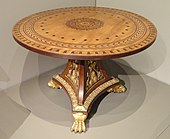 Pedestal Table, c. 1810, England, mahogany with ebony and metal inlays, gilt bronze - Art Institute of Chicago - DSC09906.JPG