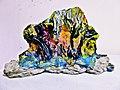 Pedro Meier Skulptur »Siamesischer Berg VIII«, (ungebrannter Lehm, Ölfarbe) 1995. Atelier am Golf von Siam, Bang Saen Beach, Chonburi, Thailand. Skulpturenpark, Künstlerkolonie, Bangkok Art Group. Foto © Pedro Meier Multimedia Arti.jpg