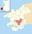 Pembrokeshire UK wards - Martletwy locator.png
