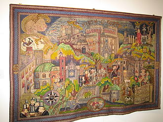 The People's Story Museum - One of the banners in the museum's collection.