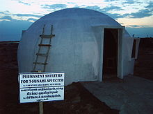 igloo shaped concrete house