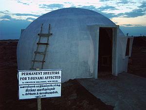 igloo shaped concrete house