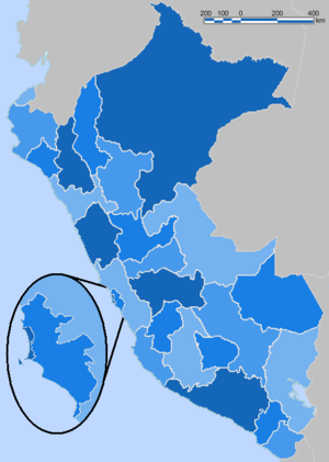 Regions of Peru - Image: Peru Blue Administrative Base Map