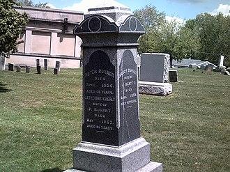 Carrollton, Ohio - Stele memorializing Carrollton's founder in Westview Cemetery