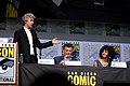Peter Capaldi, Steven Moffat & Pearl Mackie (36105601722).jpg
