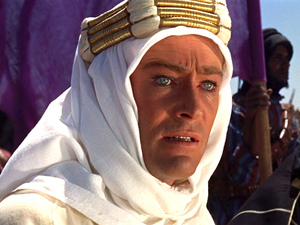 Phyllis Dalton - Peter O'Toole in one of Dalton's more famous costumes for Lawrence: the sheikh's white robes and keffiyeh given to him by Sherif Ali. Lawrence of Arabia (1962)