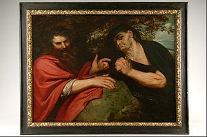 Heraclitus and Democritus (Rubens) - The painting