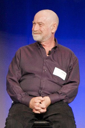 "Peter Schwartz (futurist) - Peter Schwartz at ""WarGames"" 25th anniversary showing, by Marcin Wichary, 2008"