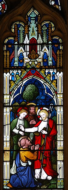 Stained Glass Window Of The Confession Peter In Luke 920 But Who Do You Say That I Am Answered Christ God