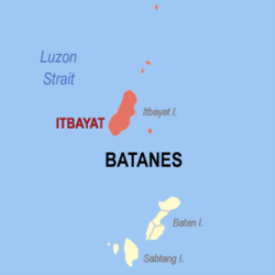 Map of Batanes with Itbayat highlighted