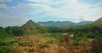 Phi Pan Nam Range - The Phi Pan Nam Range and the Yom River in Long District, Phrae Province