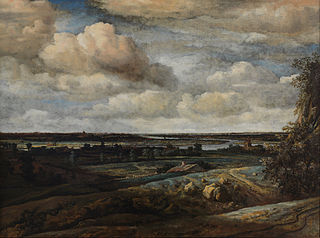 Dutch Panorama Landscape with a Distant View of Haarlem