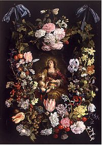 Philips de Marlier - St Dorothea of Caesarea in a Flower Garland.jpg