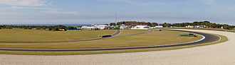 Phillip Island Grand Prix Circuit - Phillip Island Grand Prix Circuit Panorama showing turn 12 heading on to the 900m Gardner Straight