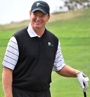 Photo of golfer Ernie Els at the 2009 Presiden...