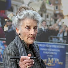 Colour photograph of Phyllida Law at the 'Nanny McPhee London film premiere in 2005