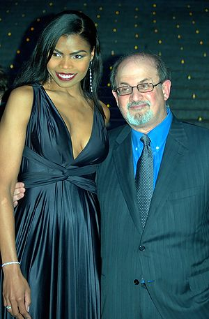 Actress Pia Glenn and Salman Rushdie at the Va...