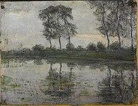 Piet Mondriaan - Bend in the Gein, detail study - 0333467 - Kunstmuseum Den Haag.jpg