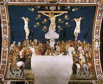 Pietro Lorenzetti - Crucifixion, Basilica of San Francesco d'Assisi