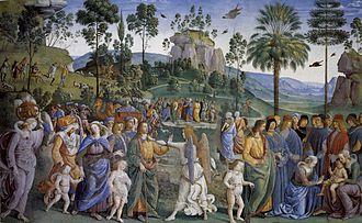 Moses Leaving for Egypt (Perugino) - Image: Pietro Perugino cat 13d