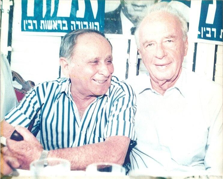 גואל לויצקי עם יצחק רבין