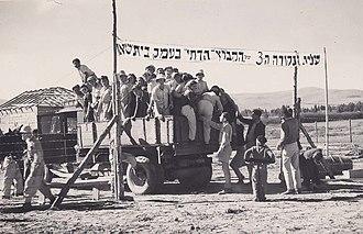 Religious Zionism - Religious Zionist pioneers found Kibbutz Ein HaNatziv, 1946