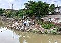 Pile of garbage along the Code River, as viewed from near Prawirodirjan - North.jpg