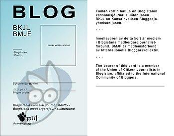 Citizen journalism / blogger card by Pinseri-blog