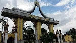 Pekan, Pahang - Abu Bakar Palace main gate.