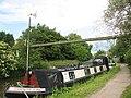Pipe bridge across the canal - geograph.org.uk - 1395440.jpg