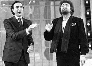 Beppe Grillo - Beppe Grillo with Pippo Baudo during the 1970s
