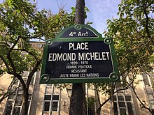 Place Edmond-Michelet (Paris) - plaque.JPG