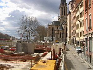 Place Benoît-Crépu - The square during the building of the car park