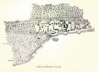 History of Montreal - Development plan for the settlement, 1687–1723. During this period, Montreal saw a drastic change in its demographic.