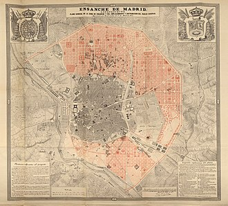 1861 map of the Ensanche de Madrid Plano del Ensanche de Madrid-1861.jpg