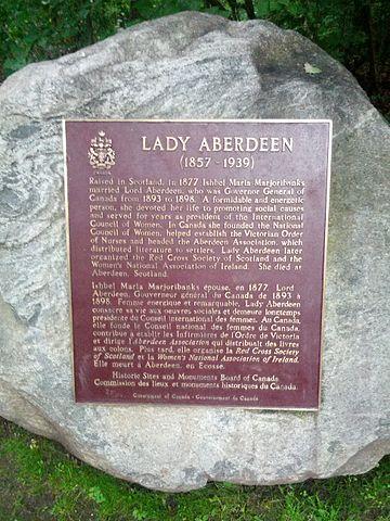 Plik:Plaque commemorating Lady Aberdeen (Ottawa, Ontario).jpg