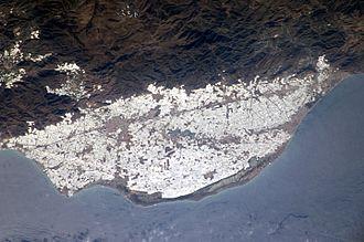 Poniente Almeriense - Almería sea of plastic as seen from the International Space Station